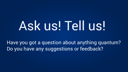 Send us a question or feedback here!